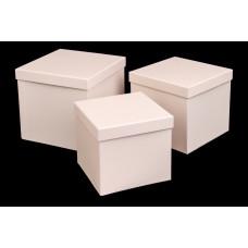 Подарочная коробка, нежно-персиковый, 3 шт