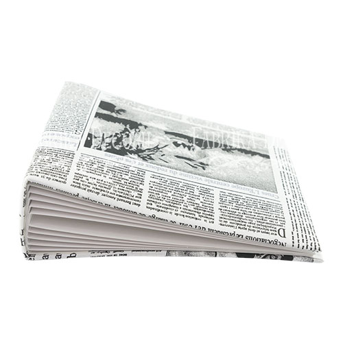 Заготовка альбома в мягкой обложке, Газета, 7 разворотов, 20х20 см, Фабрика Декора