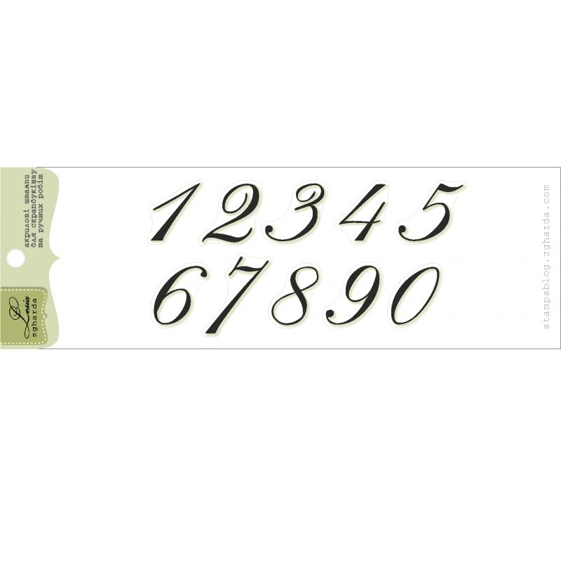 "Акриловый штамп ""Цифры"", высота цифр 1,5 см"