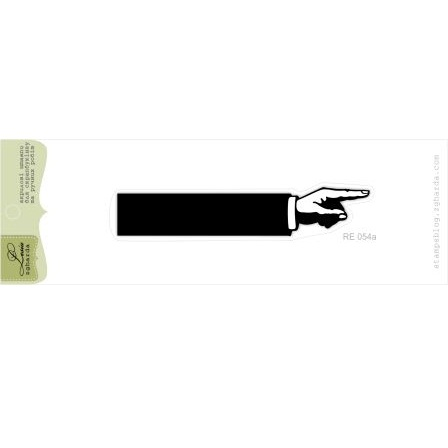 "Акриловый штамп ""Рука-указатель"", размер 8,4х1,6 см"