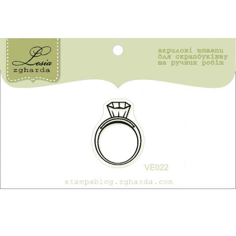 "Акриловый штамп ""Перстень"", размер 2,2х1,7 см"