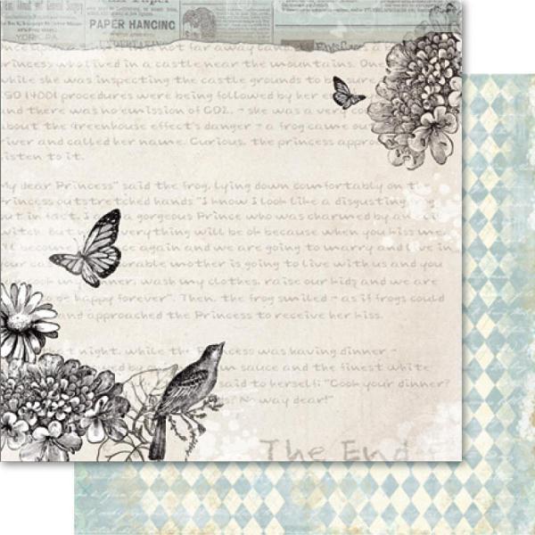 Двусторонняя бумага Flutterby 30х30 см от Ruby Rock-It
