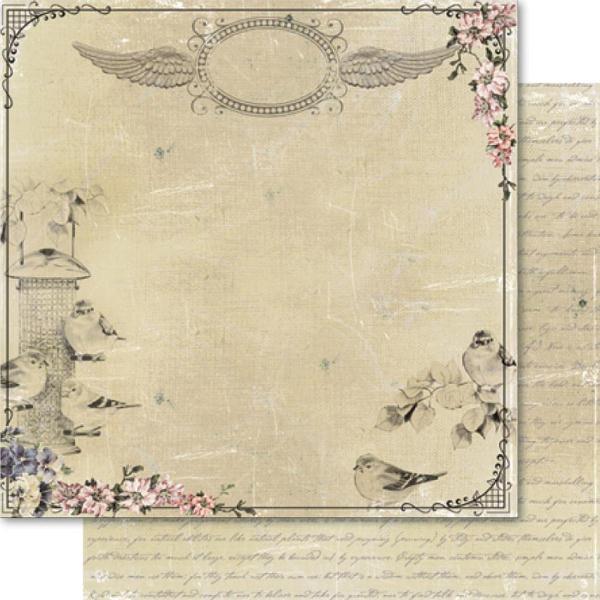Двусторонняя бумага Bird Flock 30х30 см от Ruby Rock-It