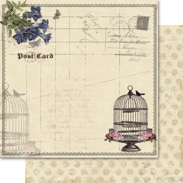 Двусторонняя бумага Postcard 30х30 см от Ruby Rock-It