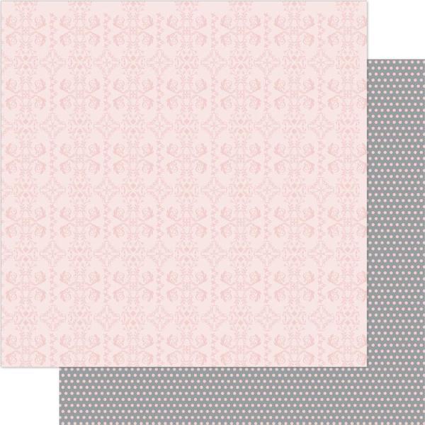 Двусторонняя бумага Pink & White Devine 30х30 см от Ruby Rock-It
