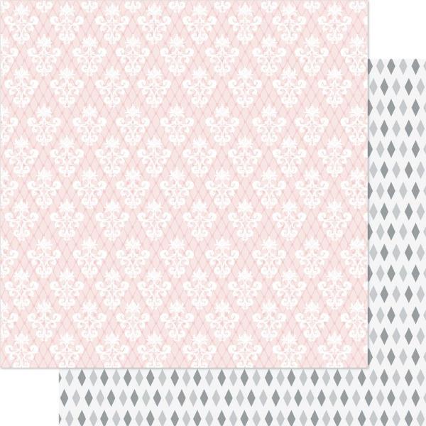 Двусторонняя бумага Pink & White Charmed 30х30 см от Ruby Rock-It