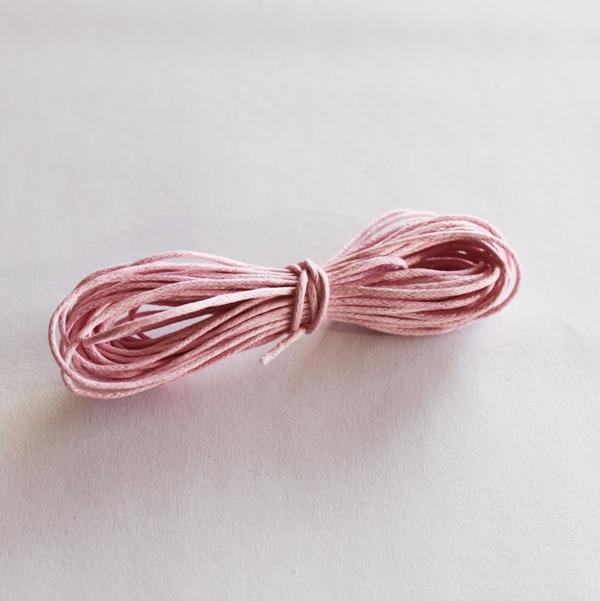 Вощеный шнур розового цвета 5 м