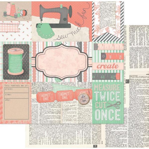 Двусторонняя бумага Sew Fun 30х30 см от Bo-Bunny