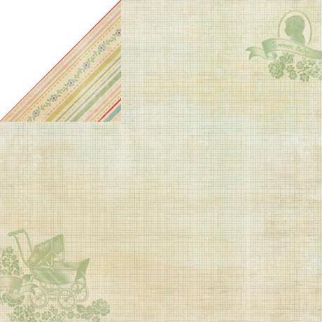 Двусторонняя бумага Stroll Silhouette & Stroller 30х30 см от Authentique Paper