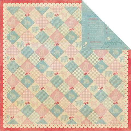 Двусторонняя бумага Patchwork Baby Quilt 30х30 см от Authentique Paper