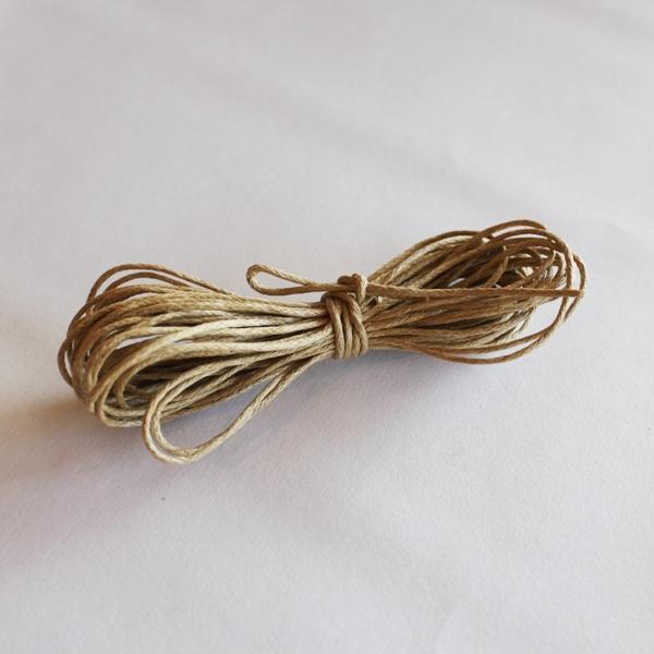 Вощеный шнур льняного цвета 5 м