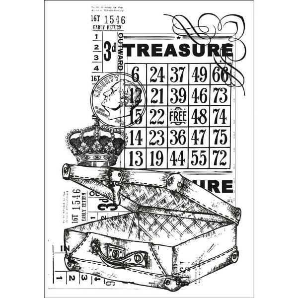 Акриловый штамп Treasure, 10х7 см от компании Kaisercraft