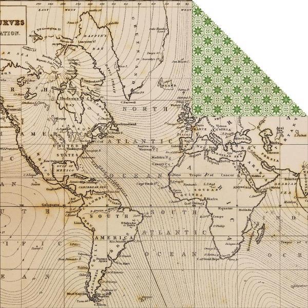 Двусторонняя бумага Map 30х30 см от Echo Park
