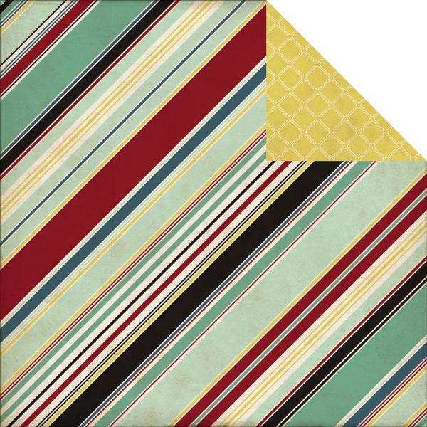 Двусторонняя бумага Manly Stripe 30х30 см от Echo Park