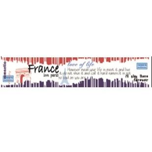 """Бумажный скотч """"Париж! Париж!"""", ширина 30 мм, длина 8 м от ScrapBerry's"""