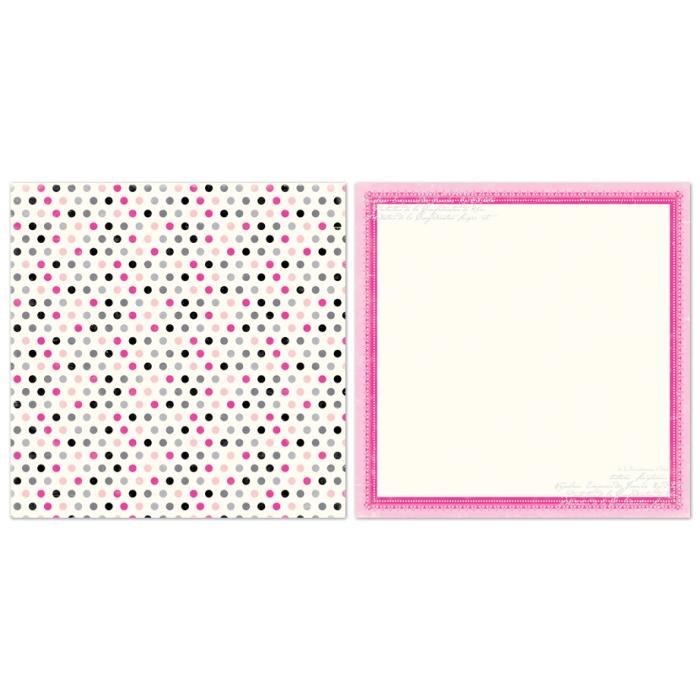 Двусторонняя бумага Precious Polka Dots 30х30 см от Echo Park