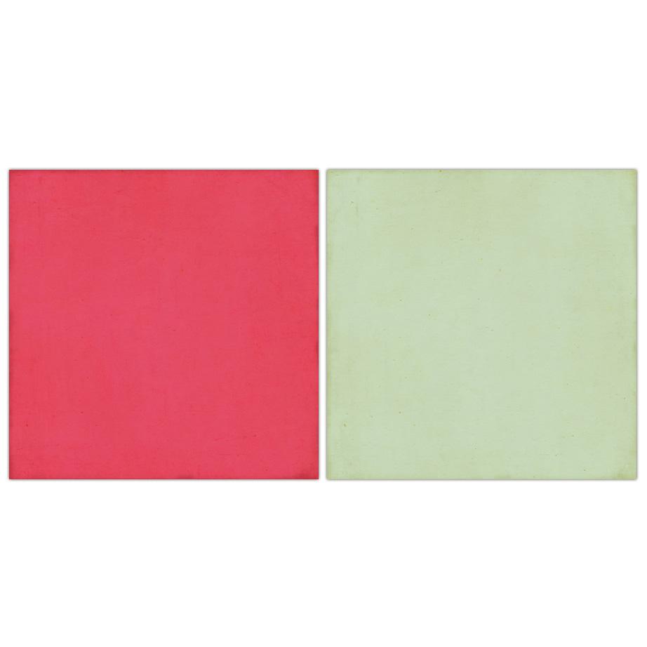 Двусторонняя бумага Pink/Mint 30х30 см от Echo Park