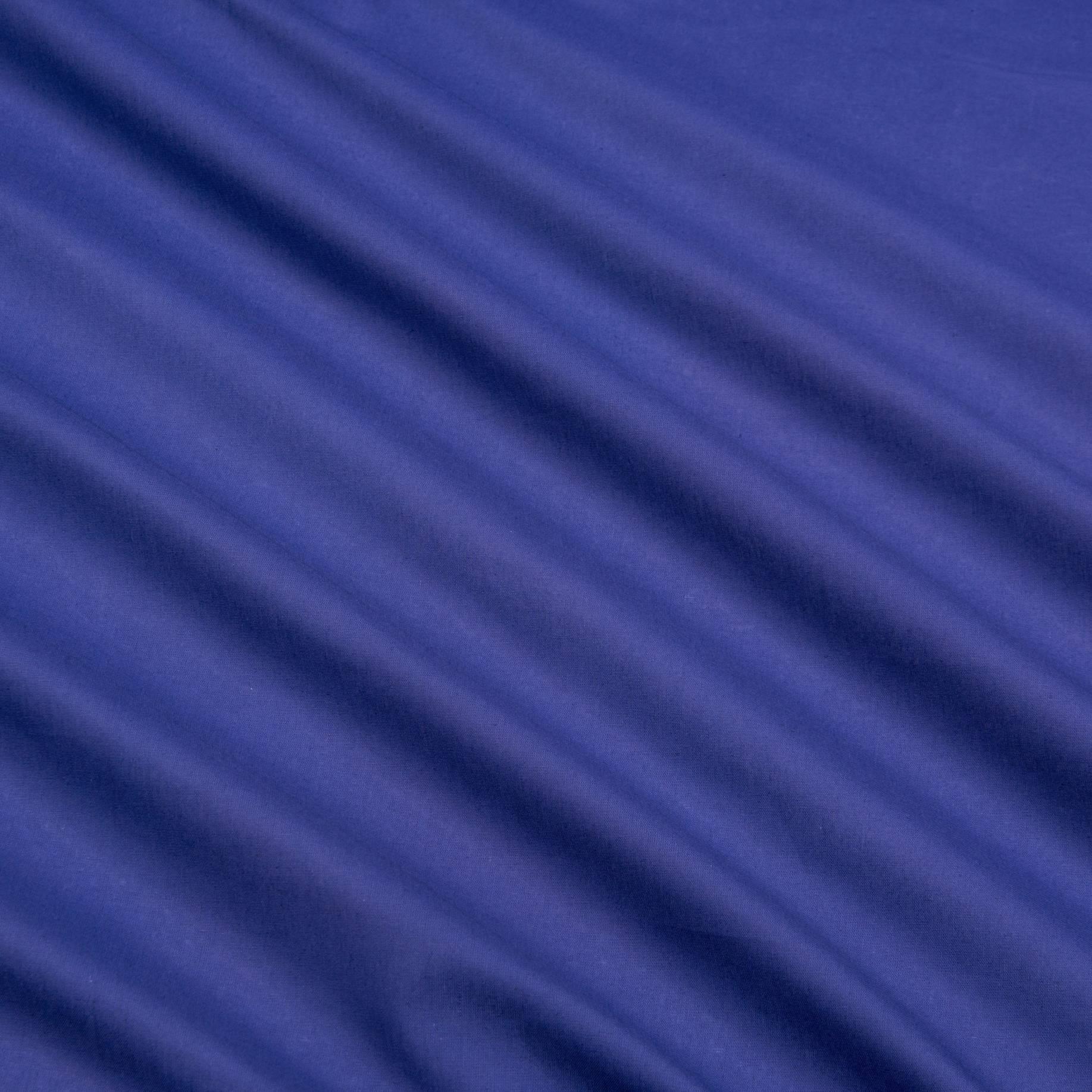 Бязь гладкокрашеная, синяя, плотность 142, 50x50, хлопок 100%