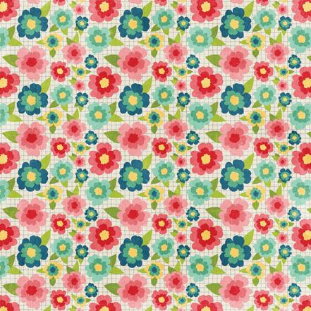 Двусторонняя бумага Floral 30х30 см от компании Echo Park