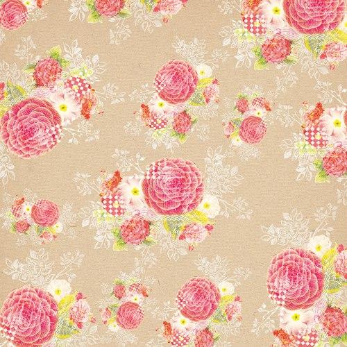 Двусторонняя бумага Krafty Floral 30х30 см от My Mind's Eye
