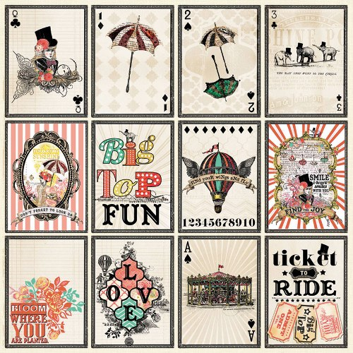 Двусторонняя бумага Pick a Card 30х30 см от My Mind's Eye