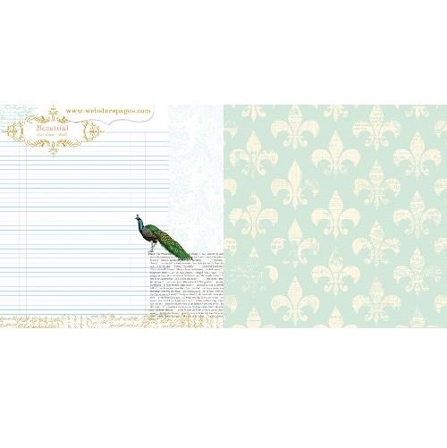 Двусторонняя бумага Beautiful Story 30х30 см от Webster's Pages
