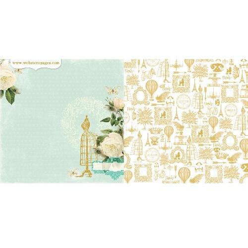 Двусторонняя бумага Couture 30х30 см от Webster's Pages