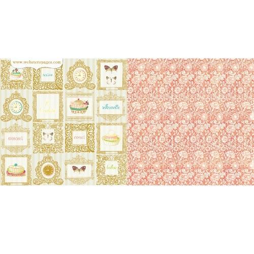 Двусторонняя бумага Le Petit Cafe 30х30 см от Webster's Pages