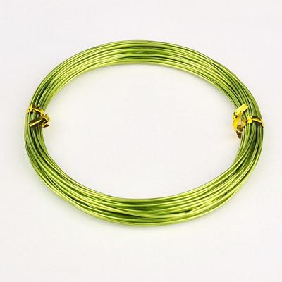 Алюминиевая проволока светло-зеленого цвета, длина 10 м