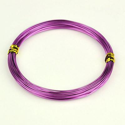 Алюминиевая проволока фиолетового цвета, длина 10 м
