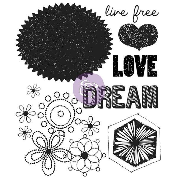 Акриловый штамп Love, Dream, 6,3х7,6 см от компании Prima