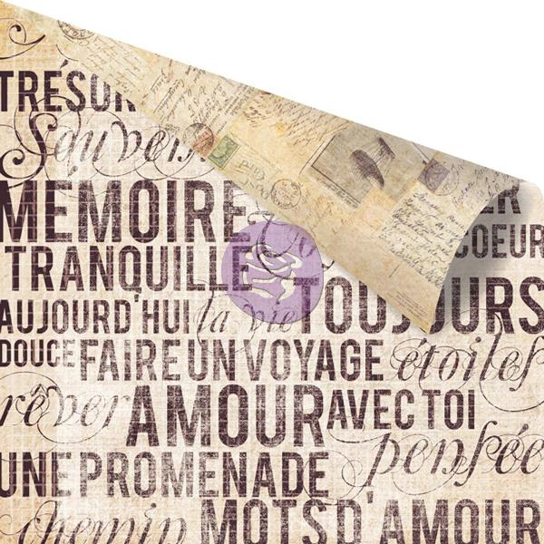 Двусторонняя бумага Mots D'amour, 30х30 см от компании Prima