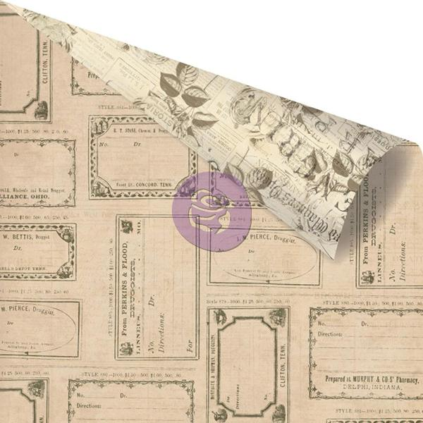 Двусторонняя бумага Reception, 30х30 см от компании Prima