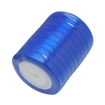 Атласная ленточка синего цвета, ширина 10 мм, длина 90 см