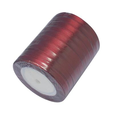 Атласная ленточка бордового цвета, ширина 10 мм, длина 90 см