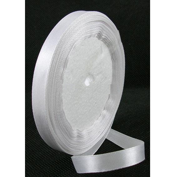 Атласная ленточка белого цвета, ширина 16 мм, длина 90 см