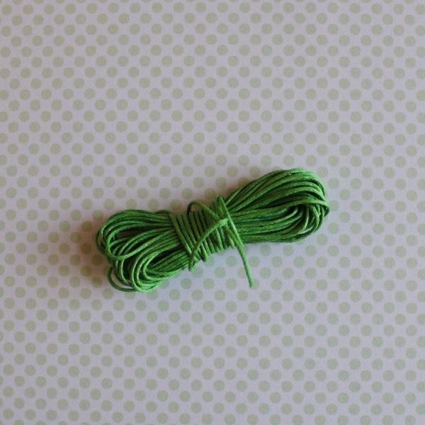 Вощеный шнур зеленого цвета, длина 5 м