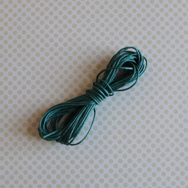 Вощеный шнур цвета морской волны, длина 5 м