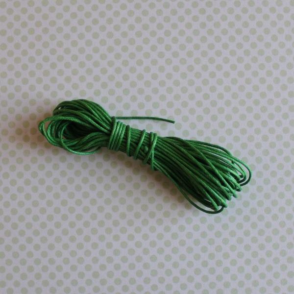 Вощеный шнур цвет лимонно-зеленый, длина 5 м