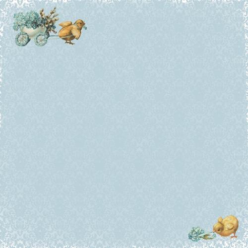 Двусторонняя бумага Весенний Праздник. Весенний день - 30,5х30,5 см от ScrapBerry's