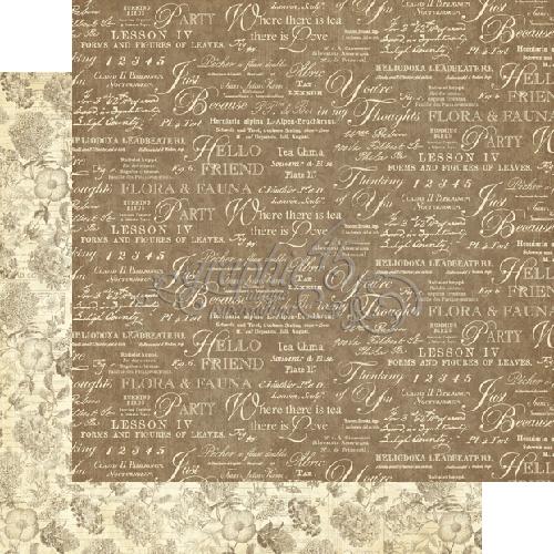Двусторонняя бумага Fauna от Graphic 45