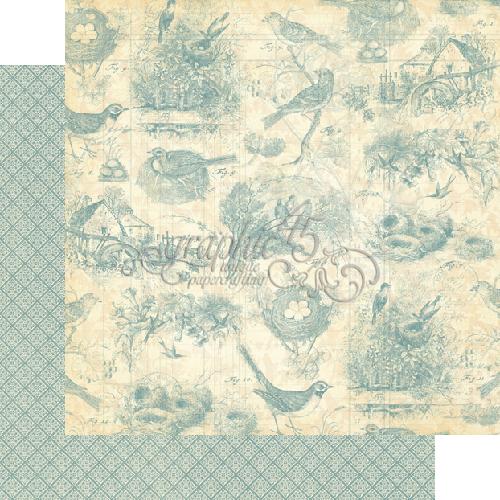 Двусторонняя скрапбумага Birds of a Feather от Graphic 45