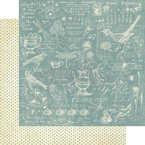 Двусторонняя скрапбумага Robin's Egg от Graphic 45