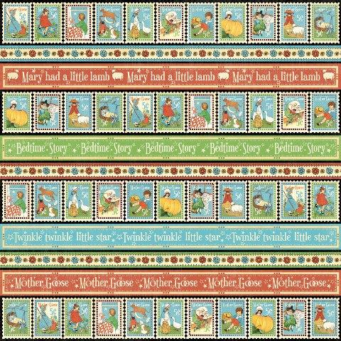 Двусторонняя скрапбумага Playful Postage 30x30 от Graphic 45