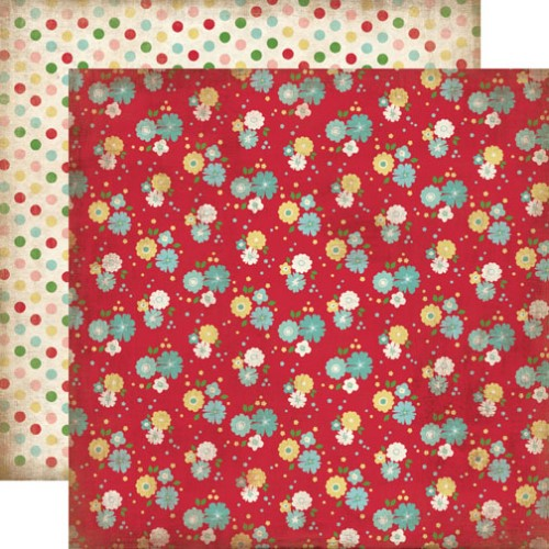 Двусторонняя бумага Kitchen Floral 30х30 см от Carta Bella