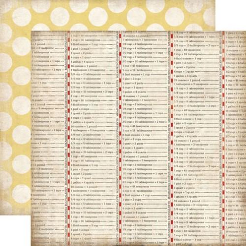 Двусторонняя бумага Conversion Table 30х30 см от Carta Bella