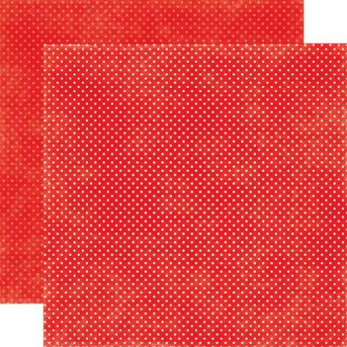 Двусторонняя бумага Ruby Red Tiny Dots 30х30 см от Echo Park