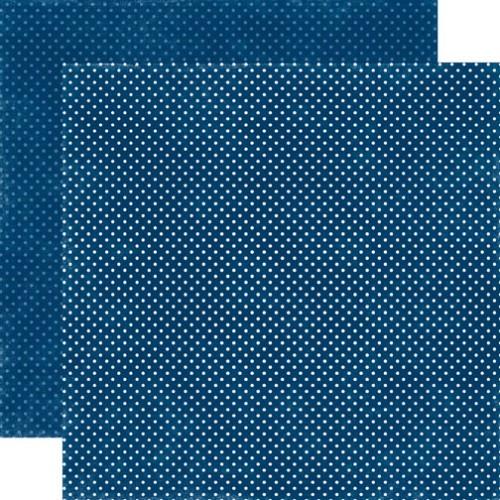 Двусторонняя бумага Navy Tiny Dots 30х30 см от Echo Park