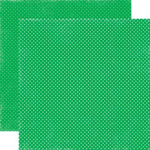 Двусторонняя бумага Grass Tiny Dots 30х30 см от Echo Park