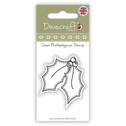 Акриловый штамп Holly от компании Dovecraft. Размер упаковки со штампом 12х6 см